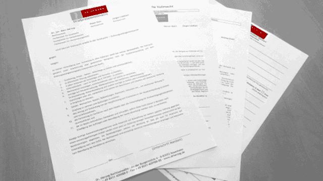 Formulare Dr. Herzog Rechtsanwälte