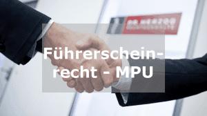 Führerscheinrecht - MPU Rechtsanwalt Rosenheim