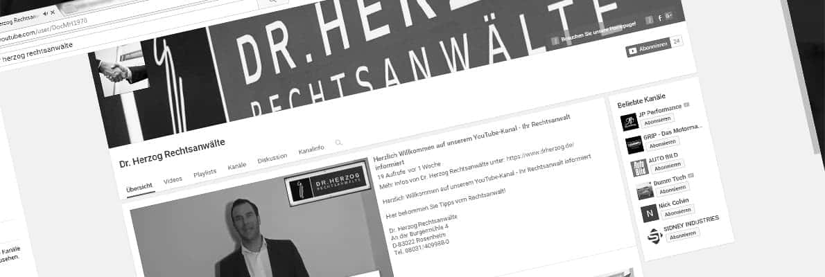 Videos Youtube Rechtsanwalt Rosenheim